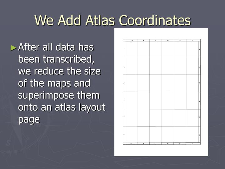 We Add Atlas Coordinates