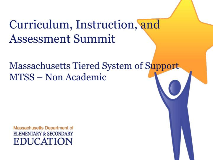 Curriculum, Instruction, and Assessment Summit