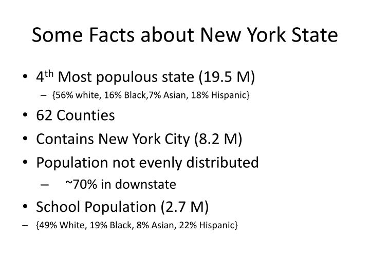 Some Facts about New York State