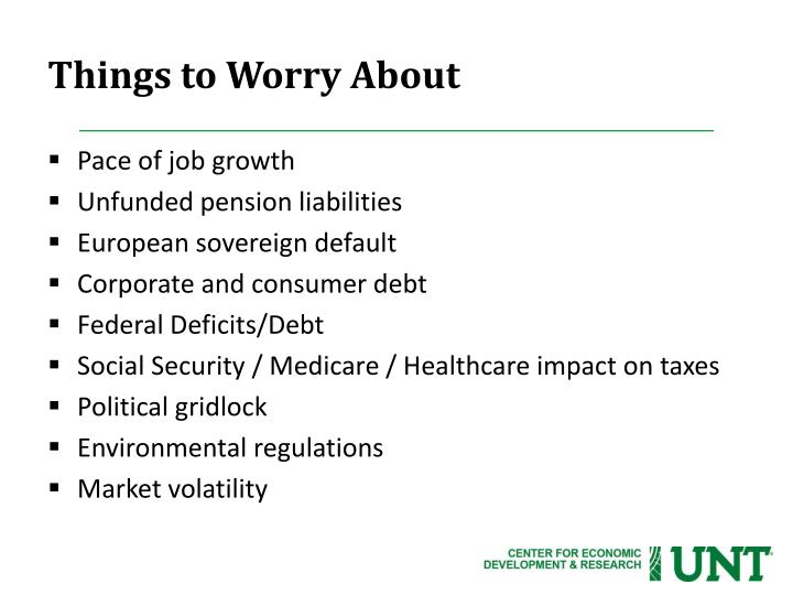 Things to Worry About