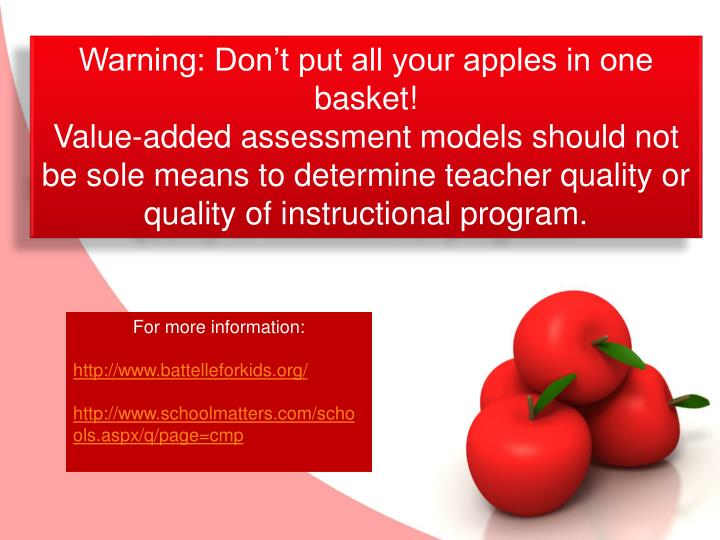 Warning: Don't put all your apples in one basket!