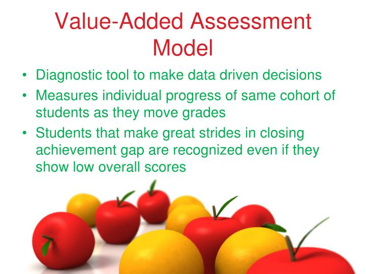 Value added assessment model