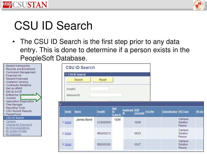 CSU ID Search