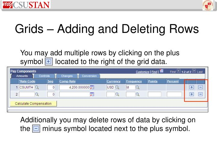 Grids – Adding and Deleting Rows