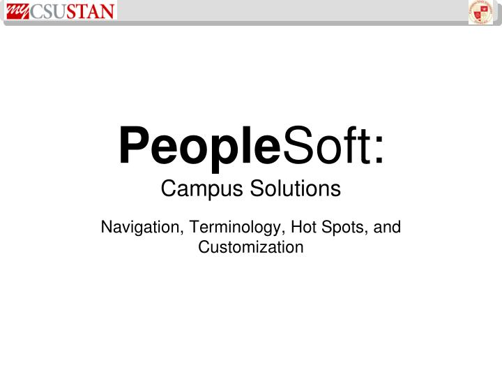 People soft campus solutions
