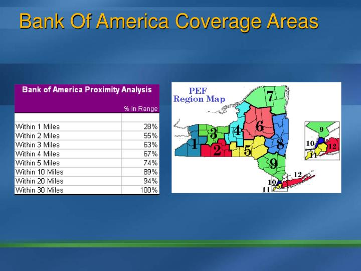 Bank Of America Coverage Areas