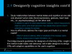 2 4 designerly cognitive insights cont d