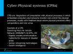 cyber physical systems cpss
