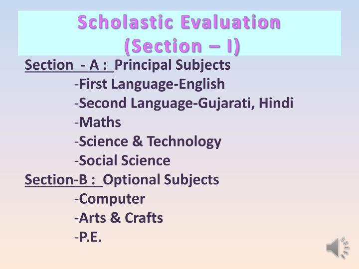 Scholastic Evaluation