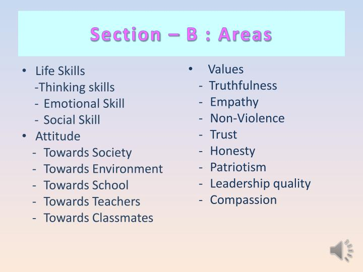 Section – B : Areas