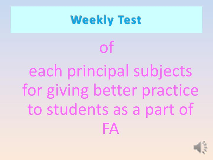 Weekly Test