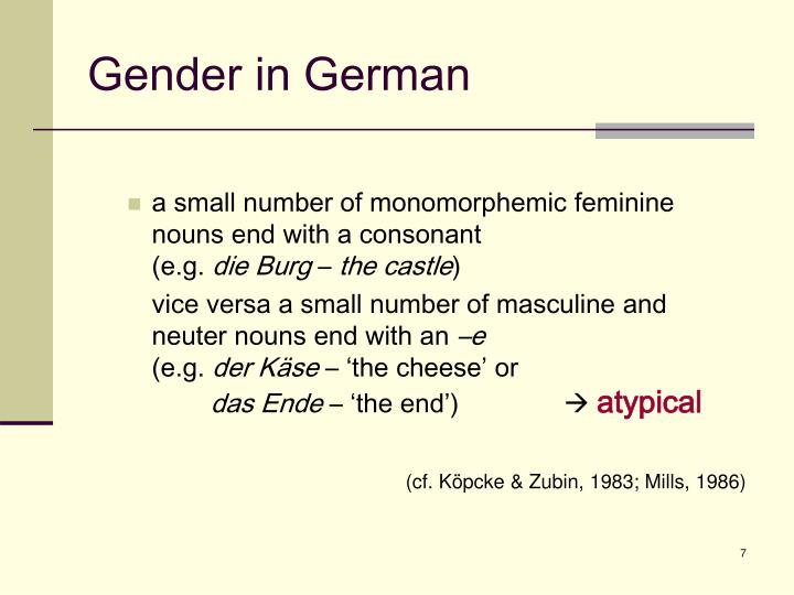 Gender in German