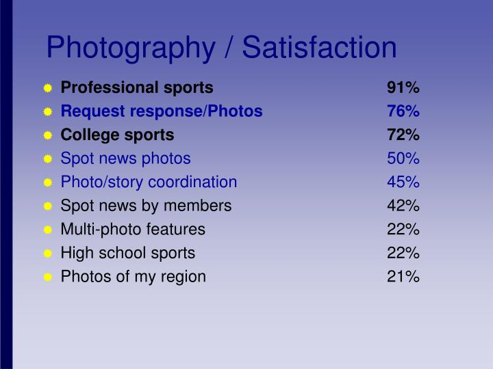 Photography / Satisfaction