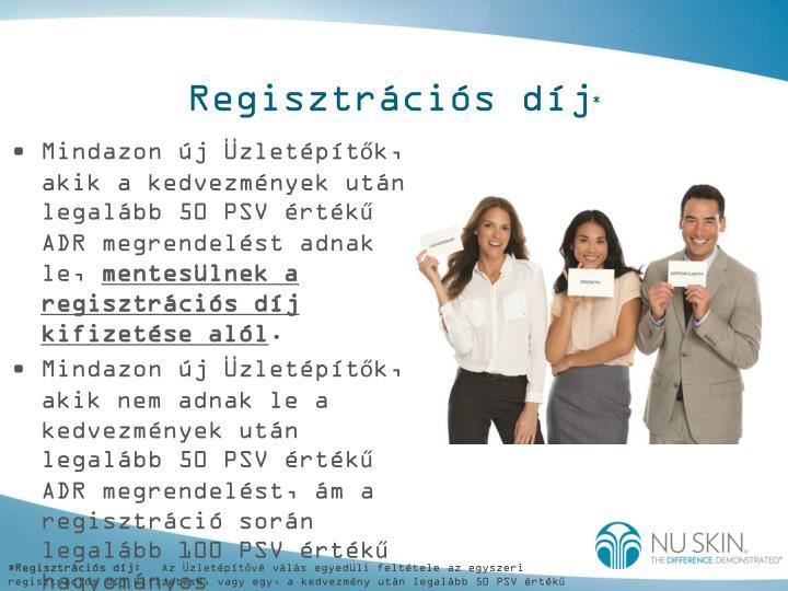 Regisztrációs díj