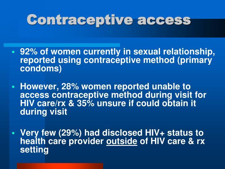 Contraceptive access
