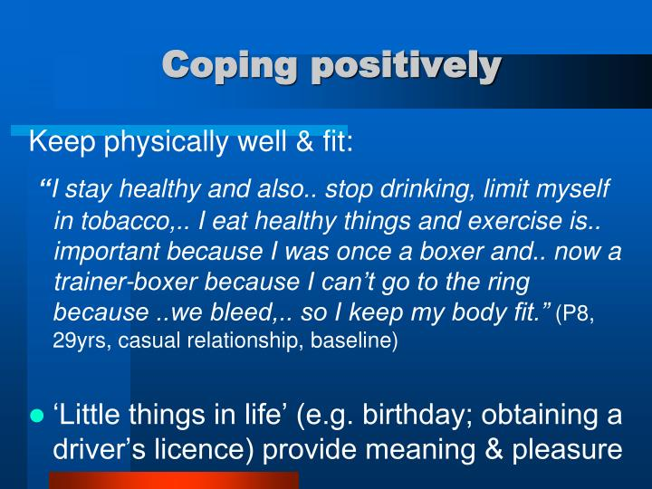 Coping positively
