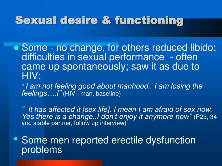 Sexual desire & functioning
