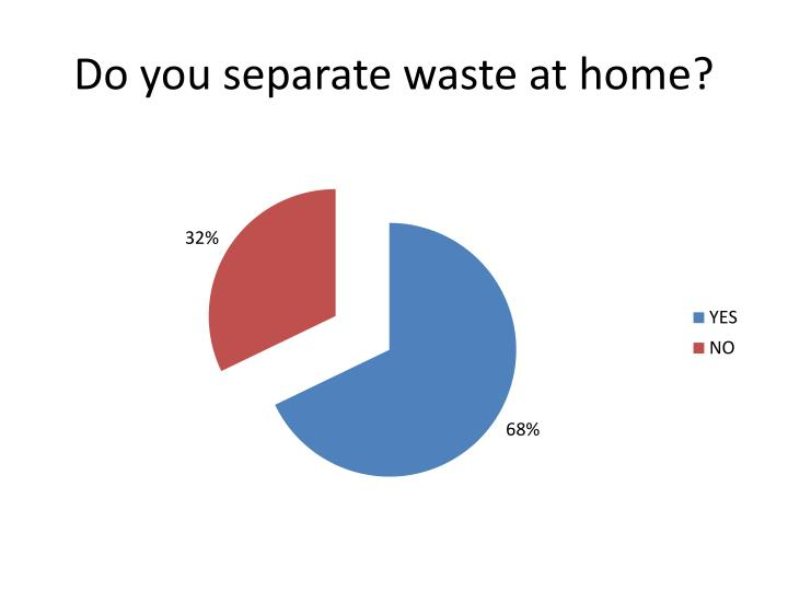 Do you separate waste at home