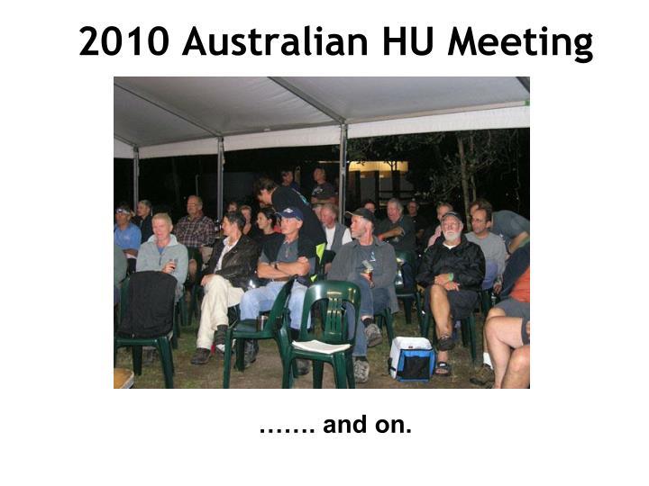 2010 Australian HU Meeting