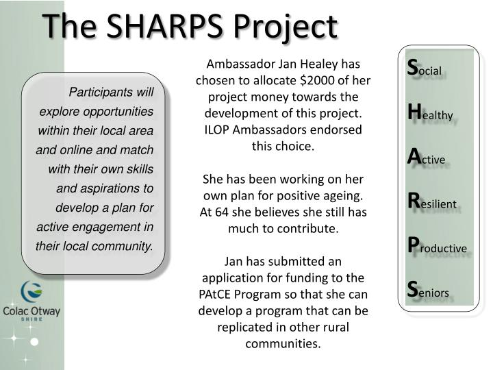 The SHARPS Project