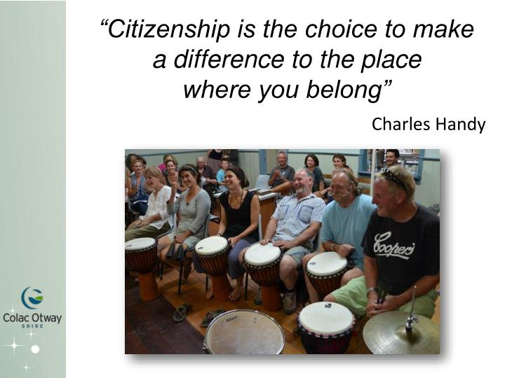 """Citizenship is the choice to make"