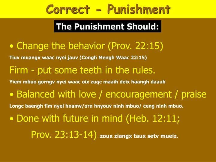 Correct - Punishment