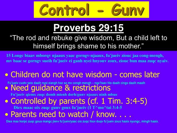 Control - Gunv