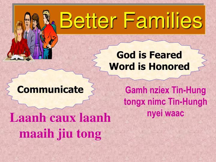 Better Families