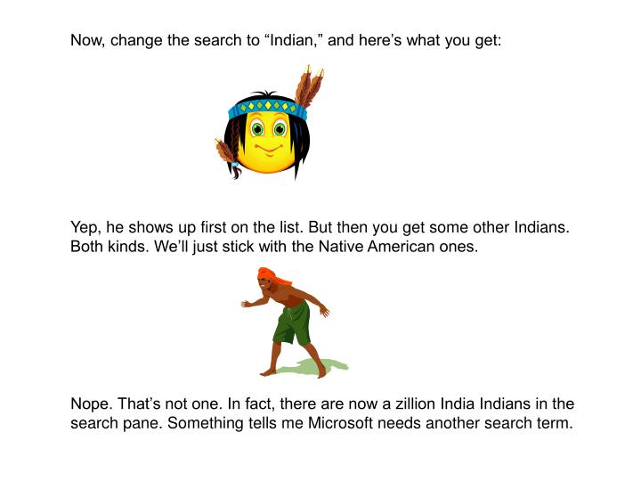 """Now, change the search to """"Indian,"""" and here's what you get:"""