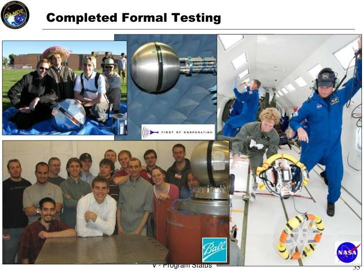 Completed Formal Testing