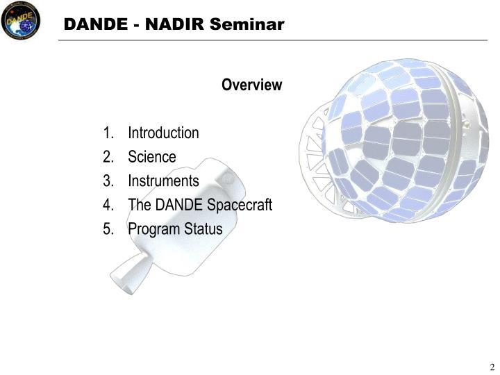 DANDE - NADIR Seminar