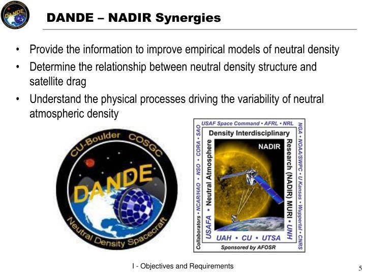DANDE – NADIR Synergies