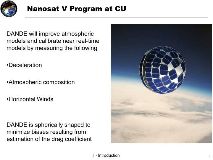 Nanosat V Program at CU
