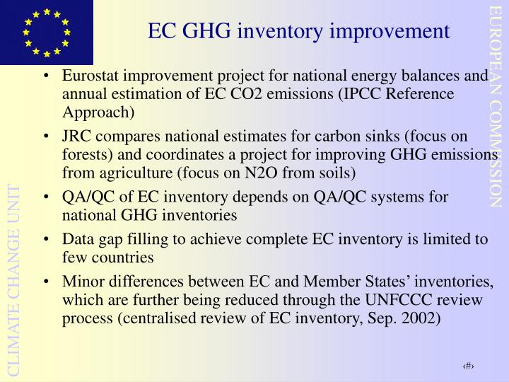 EC GHG inventory improvement