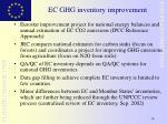 ec ghg inventory improvement