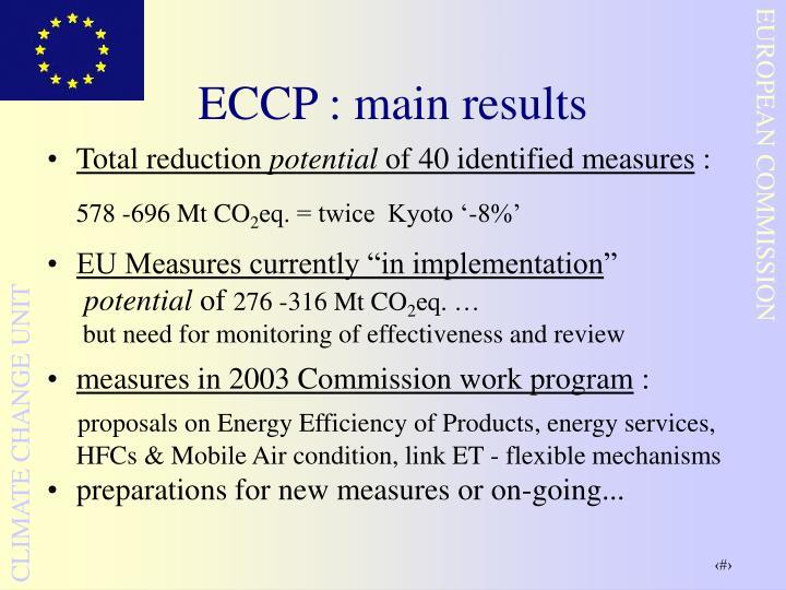 ECCP : main results