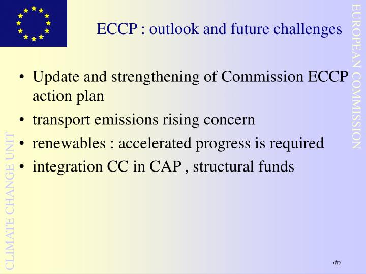 ECCP : outlook and future challenges