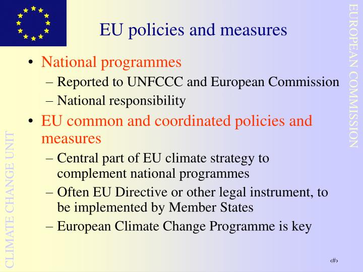 EU policies and measures