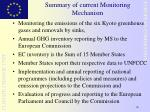summary of current monitoring mechanism