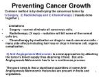 preventing cancer growth