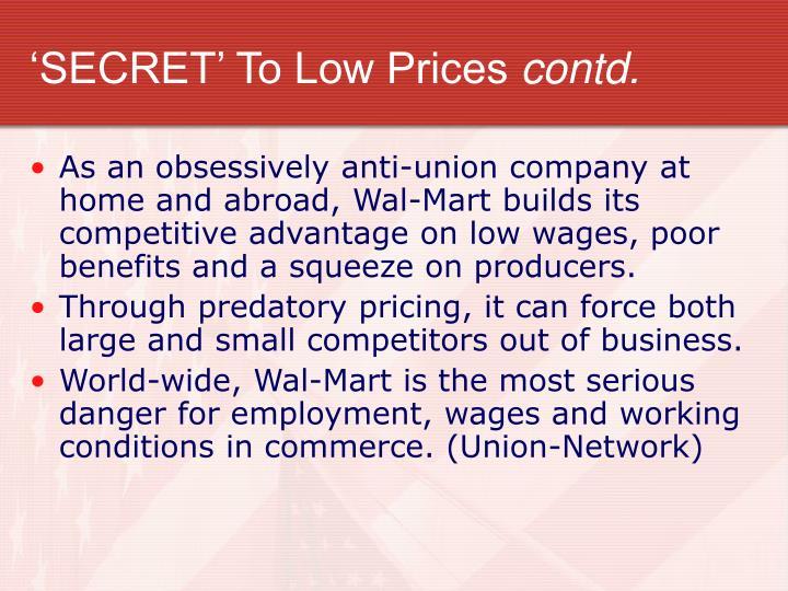 'SECRET' To Low Prices