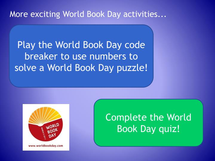 More exciting World Book Day activities...