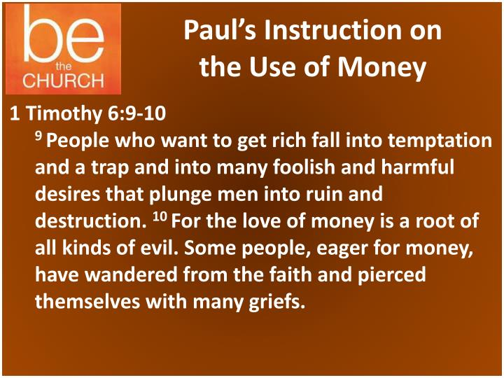 Paul's Instruction on