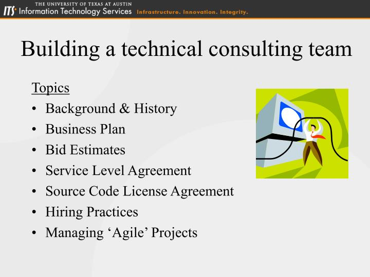 Building a technical consulting team