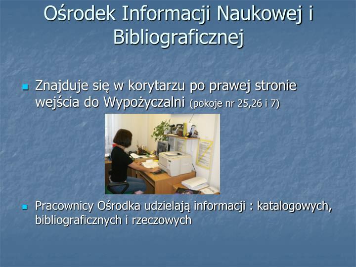 Ośrodek Informacji Naukowej i Bibliograficznej