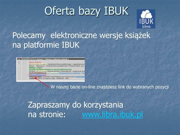 Oferta bazy IBUK