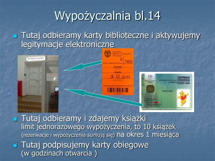Wypożyczalnia bl.14