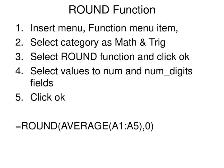 ROUND Function