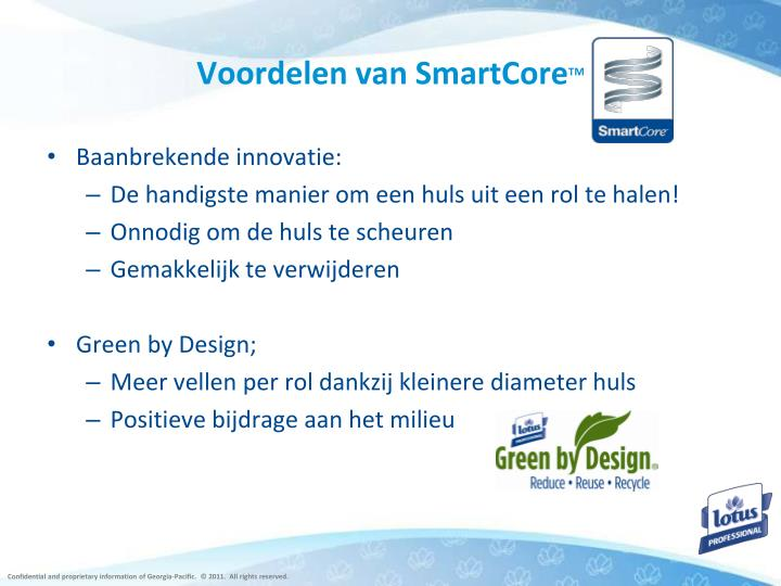 Voordelen van SmartCore