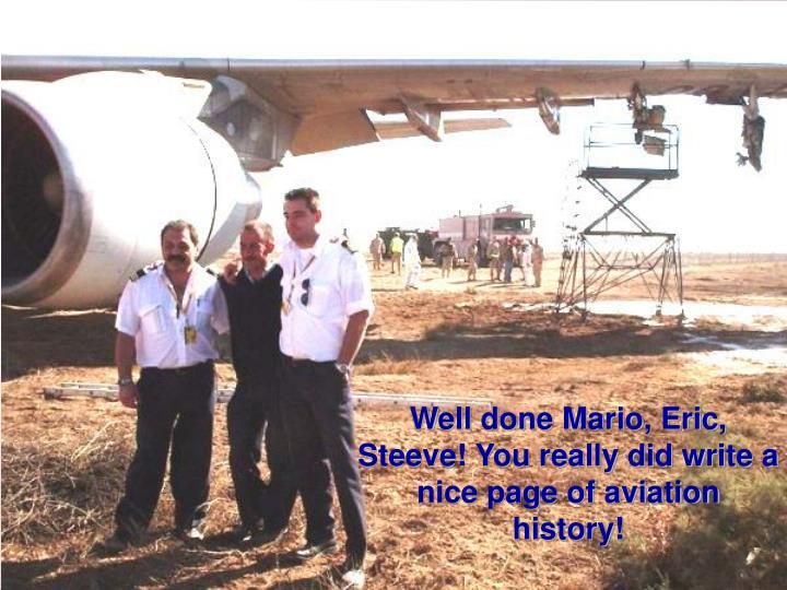 Well done Mario, Eric, Steeve! You really did write a nice page of aviation history!
